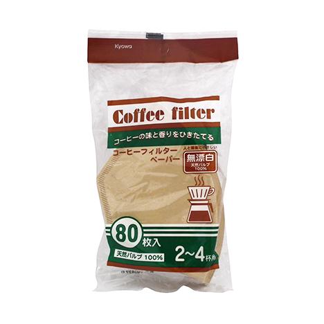 コーヒーフィルターL80枚(無漂白)